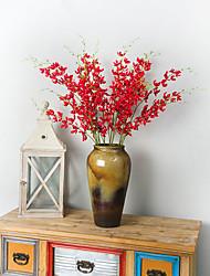 Недорогие -Искусственные Цветы 2 Филиал Классический Традиционный / классический Простой стиль Орхидеи Вечные цветы Букеты на стол