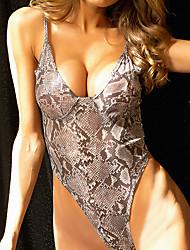 hesapli -Teddy Yatak kıyafeti - Arkasız, Geometrik Kadın's