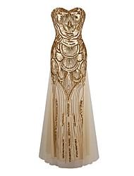 baratos -Mulheres balanço Vestido Sem Alças Longo