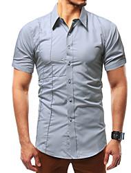 abordables -chemise pour homme - col de chemise de couleur unie