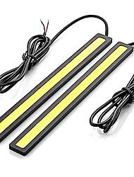 Недорогие -2pcs Проводное подключение Автомобиль Лампы 12 W COB 600 lm Светодиодная лампа Фары дневного света Назначение Универсальный Все года