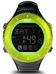 Недорогие -Жен. Спортивные часы На открытом воздухе Мода Черный Pезина Японский Цифровой Зеленый Защита от влаги Smart Bluetooth 100 m 1 комплект Цифровой Один год Срок службы батареи / ЖК экран