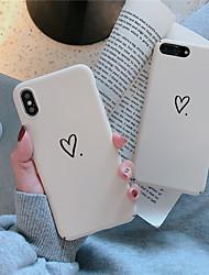 Недорогие -Кейс для Назначение Apple iPhone XS / iPhone XR / iPhone XS Max Матовое / С узором Кейс на заднюю панель С сердцем Твердый ПК