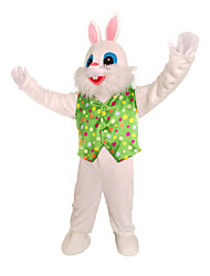 povoljno -Rabbit Maskota Uskršnji zeko Cosplay Nošnje Mellény Dječji Odrasli Muškarci One Piece Cosplay Uskrs Festival / Praznik Polyster Obala / Zelen Karneval kostime Na točkice Kolaž