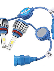 Недорогие -2pcs H13 / H7 / H4 Автомобиль Лампы 48 W COB 5200 lm Светодиодная лампа Налобный фонарь Назначение Универсальный / Volkswagen / Toyota Все года