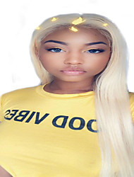 Χαμηλού Κόστους -Συνθετικές Περούκες / Συνθετικές μπροστινές περούκες δαντέλας Κατσαρά Ίσια / Φυσικό ευθεία Στυλ Μέσο μέρος Δαντέλα Μπροστά / Χωρίς κάλυμμα Περούκα Λευκή Καφέ / Άσπρο Συνθετικά μαλλιά 26 inch Γυναικεία