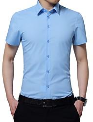 olcso -Klasszikus gallér Vékony Férfi Pamut bodysuit - Egyszínű