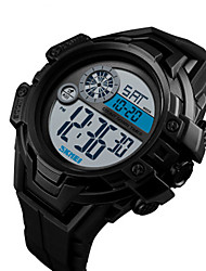 cheap -SKMEI Men's Digital Watch Digital Silicone Black / Green 50 m Water Resistant / Waterproof Calendar / date / day Stopwatch Digital Outdoor Fashion - Red Green Blue