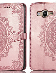 ieftine -Maska Pentru Samsung Galaxy J2 Prime Titluar Card / Întoarce Carcasă Telefon Mată Greu PU piele pentru J2 Prime