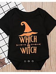 お買い得  -赤ちゃん 女の子 活発的 幾何学模様 プリント 半袖 ポリエステル ワンピース ブラック