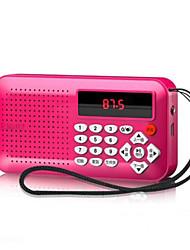 Недорогие -OEM FM / AM Поддерживаемые Плейлисты / Регулируемый звук / МР3 плеер Mini SD карты Мировой ресивер Черный / Пурпурный / Синий