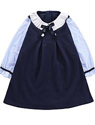זול -שמלה שרוול ארוך טלאים בנות ילדים / פעוטות