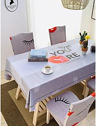 tanie -Nowoczesny Casual Włókno celulozowe Kwadrat Obrus Wzory Drukowanie Wodoszczelny Dekoracje stołowe 1 pcs