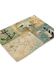 Недорогие -Современный Нетканые Квадратный Салфетки-подстилки Рисунок Экологичные Настольные украшения 1 pcs