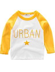 halpa -Lapset Poikien Perus Painettu Pitkähihainen Polyesteri T-paita Apila