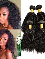 olcso -4 csomópont Brazil haj Kinky Curly Szűz haj Az emberi haj sző Késleltető Bundle Hair 8-28 hüvelyk Természetes szín Emberi haj sző Valentin Puha Klasszikus Human Hair Extensions Női