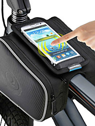 Недорогие -ROSWHEEL Сотовый телефон сумка Бардачок на раму 5 дюймовый Сенсорный экран Велоспорт для iPhone 8/7/6S/6 iPhone X iPhone XR Черный Велосипедный спорт / Велоспорт / iPhone XS / iPhone XS Max