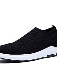 cheap -Men's Light Soles Knit Spring & Summer Sporty / Casual Athletic Shoes Running Shoes / Walking Shoes Breathable White / Black