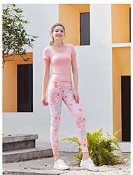 ราคาถูก -ชุดกีฬา Outfits / Yoga สำหรับผู้หญิง การฝึกอบรม / Performance ชุดชั้นในแบบChinlon กากะบาท แขนสั้น สูง Top / กางเกง