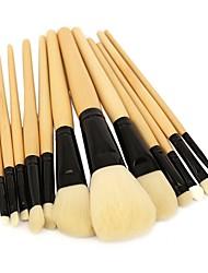 Недорогие -профессиональный Кисти для макияжа 12шт Для профессионалов Мягкость Закрытая чашечка синтетический Кисть из синтетических волокон Деревянные / бамбуковые за