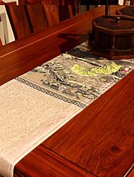 halpa -Antiikki Nonwoven Neliö Table Runners Patterned Ekologinen Pöytäkoristeet