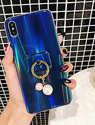 זול -מגן עבור Apple iPhone XS / iPhone XS Max עמיד בזעזועים / מחזיק טבעת / IMD כיסוי אחורי צבע הדרגתי קשיח אקרילי / PC ל iPhone XS / iPhone XR / iPhone XS Max