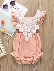 voordelige -Baby Meisjes Actief / Standaard Effen Blote rug / Veters Mouwloos Katoen / Linnen bodysuit Wit