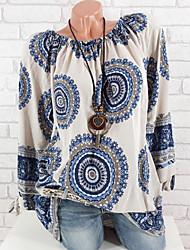 Недорогие -женская футболка размера eu / us - геометрическая шея