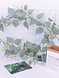 abordables -Fleurs artificielles 1 Une succursale Classique Accessoires de Scène Européen Plantes Fleurs éternelles Guirlande et Fleur Murale