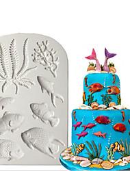 Недорогие -3d силиконовые формы морская помадка украшения торта раковина морская звезда шоколадный гампаст плесень