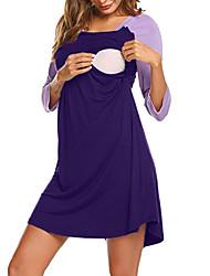 お買い得  -女性用 スリム ニット ドレス 膝上