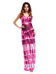 Недорогие -Жен. Оболочка Платье U-образный вырез Макси