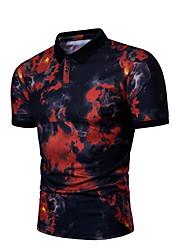 billiga -Mäns slanka skjorta - solidfärgad rund hals