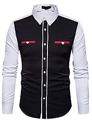 olcso -férfi ing - színes blokk ing gallér