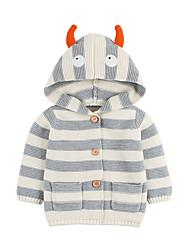 preiswerte -Baby Jungen Grundlegend Gestreift Druck Standard Baumwolle Anzug & Blazer Beige
