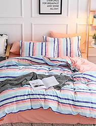 halpa -Pussilakanasetti setit Ylellisyys / Stripes / Ripples / Moderni Polyesteria Printed 4 osainenBedding Sets