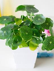 Χαμηλού Κόστους -Ψεύτικα λουλούδια 5 Κλαδί Κλασσικό Αξεσουάρ Στολής Ποιμενικό Στυλ Φυτά Αιώνια Λουλούδια Λουλούδι για Τραπέζι