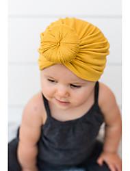 tanie -Brzdąc Dla dziewczynek Podstawowy / Słodkie Solidne kolory Len Kapelusze i czapki Szary / Fioletowy / Żółty Jeden rozmiar