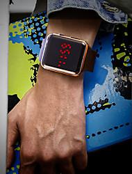 tanie -Męskie Zegarek na nadgarstek Cyfrowy Silikon Czarny Wodoszczelny / Wodoodporny LCD Cyfrowy Moda Kolorowy - Srebrny Fioletowy Różowe złoto
