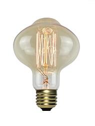 Недорогие -1шт 40 W E26 / E27 Желтый Прозрачный Body Лампа накаливания Vintage Эдисон лампочка 220-240 V