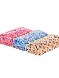Недорогие -Собаки Коты Животные Матрас Полотенца Одеяла Одеяла Плюшевая ткань Сохраняет тепло Влажная чистка Складной Звезды Цвет в случайном порядке