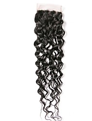 tanie -1 Pakiet Włosy brazylijskie Kinky Curl Włosy naturalne remy Akcesoria do peruk Taśma włosów z zamknięciem 8-20 in Kolor naturalny Ludzkie włosy wyplata Tkany Nowości 100% Dziewica Ludzkich włosów
