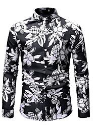 お買い得  -男性用 プリント シャツ 幾何学模様