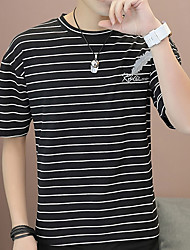 economico -t-shirt da uomo - girocollo a righe