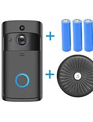 Недорогие -HQCAM Smart Wireless Video Doorbell Wifi doorbell Camera Intercom Door Bell Video doorbel Call For Apartments IR Alarm Maximum support 32G TF+3pcs 18650 battery 1 mp IP-камера Крытый Поддержка 0 GB
