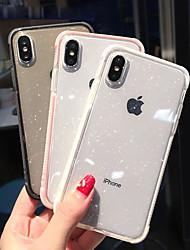 Недорогие -Кейс для Назначение Apple iPhone XS / iPhone XR / iPhone XS Max Защита от удара / Полупрозрачный Кейс на заднюю панель Сияние и блеск Мягкий ТПУ