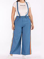 economico -Per donna Chino Pantaloni - Tinta unita Blu
