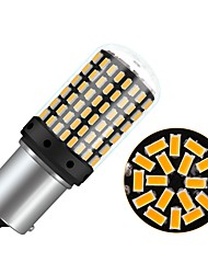 Недорогие -1pcs BA15S (1156) / P21W Автомобиль Лампы 4 W SMD 3014 450 lm 144 Светодиодная лампа Лампа поворотного сигнала Назначение Универсальный Все года