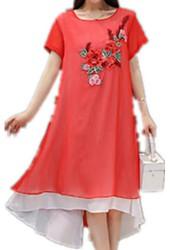 זול -נשים, שמלה, אסימטרית, שמלה, אור, כחול, ורוד, לבן, m, l, xl xxl