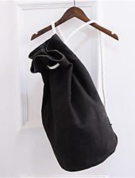 hesapli -Kadın's Çantalar Tuval sırt çantası Katmanlı için Günlük Bahar Yonca / Siyah